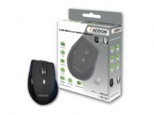 Addon MWT100 2.4G 5 Buttons Wireless Black/Silver Optical Mouse